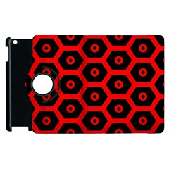 Red Bee Hive Texture Apple Ipad 3/4 Flip 360 Case