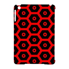 Red Bee Hive Texture Apple iPad Mini Hardshell Case (Compatible with Smart Cover)