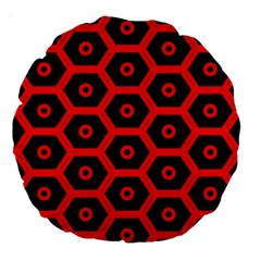 Red Bee Hive Texture Large 18  Premium Round Cushions
