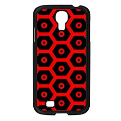 Red Bee Hive Texture Samsung Galaxy S4 I9500/ I9505 Case (Black)