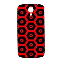 Red Bee Hive Texture Samsung Galaxy S4 I9500/I9505  Hardshell Back Case