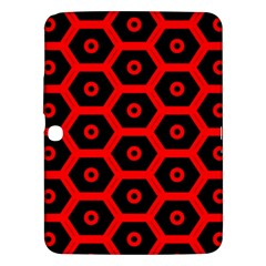 Red Bee Hive Texture Samsung Galaxy Tab 3 (10.1 ) P5200 Hardshell Case