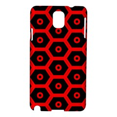 Red Bee Hive Texture Samsung Galaxy Note 3 N9005 Hardshell Case