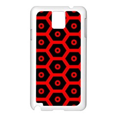 Red Bee Hive Texture Samsung Galaxy Note 3 N9005 Case (White)
