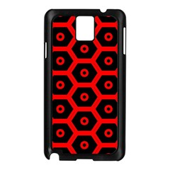 Red Bee Hive Texture Samsung Galaxy Note 3 N9005 Case (black)