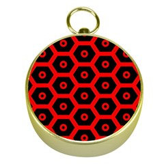 Red Bee Hive Texture Gold Compasses