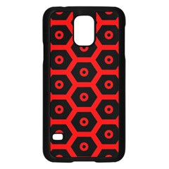 Red Bee Hive Texture Samsung Galaxy S5 Case (Black)