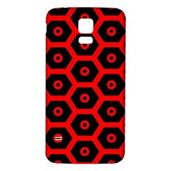 Red Bee Hive Texture Samsung Galaxy S5 Back Case (white)