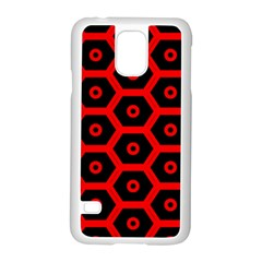 Red Bee Hive Texture Samsung Galaxy S5 Case (White)