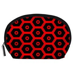 Red Bee Hive Texture Accessory Pouches (Large)