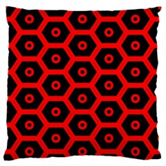 Red Bee Hive Texture Large Flano Cushion Case (One Side)