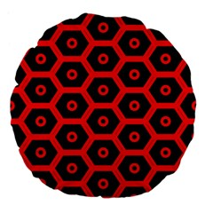 Red Bee Hive Texture Large 18  Premium Flano Round Cushions
