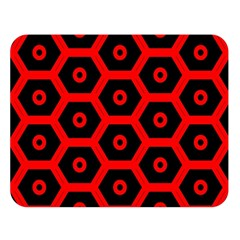 Red Bee Hive Texture Double Sided Flano Blanket (Large)