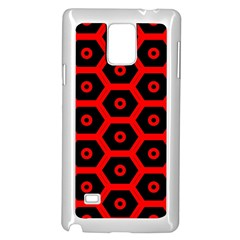 Red Bee Hive Texture Samsung Galaxy Note 4 Case (white)