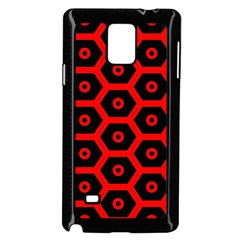 Red Bee Hive Texture Samsung Galaxy Note 4 Case (black)