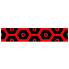 Red Bee Hive Texture Flano Scarf (Small)