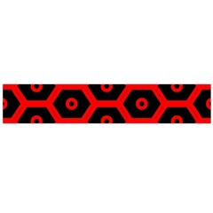 Red Bee Hive Texture Flano Scarf (Large)