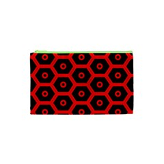 Red Bee Hive Texture Cosmetic Bag (XS)