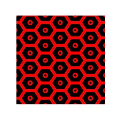 Red Bee Hive Texture Small Satin Scarf (square)