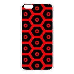 Red Bee Hive Texture Apple Seamless iPhone 6 Plus/6S Plus Case (Transparent)