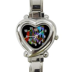Science Center Heart Italian Charm Watch