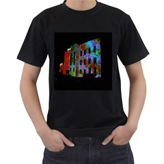Science Center Men s T-Shirt (Black) (Two Sided)