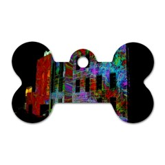 Science Center Dog Tag Bone (Two Sides)