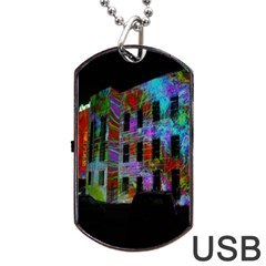 Science Center Dog Tag USB Flash (Two Sides)