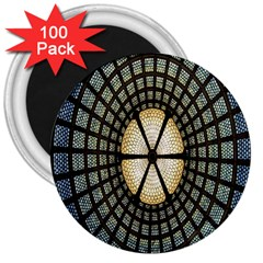 Stained Glass Colorful Glass 3  Magnets (100 pack)