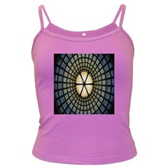 Stained Glass Colorful Glass Dark Spaghetti Tank