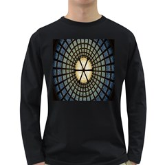 Stained Glass Colorful Glass Long Sleeve Dark T-Shirts