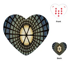 Stained Glass Colorful Glass Playing Cards (Heart)