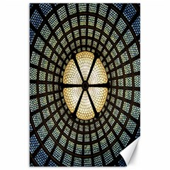 Stained Glass Colorful Glass Canvas 20  x 30