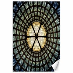 Stained Glass Colorful Glass Canvas 24  x 36
