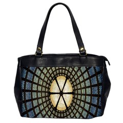 Stained Glass Colorful Glass Office Handbags (2 Sides)