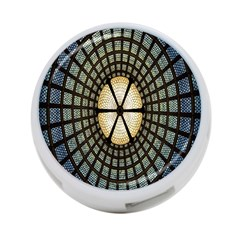 Stained Glass Colorful Glass 4 Port Usb Hub (two Sides)
