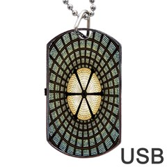 Stained Glass Colorful Glass Dog Tag USB Flash (Two Sides)