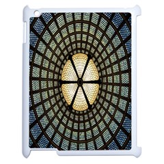 Stained Glass Colorful Glass Apple iPad 2 Case (White)