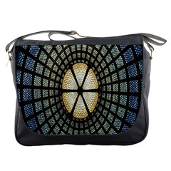 Stained Glass Colorful Glass Messenger Bags