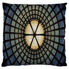 Stained Glass Colorful Glass Large Cushion Case (one Side)