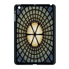 Stained Glass Colorful Glass Apple iPad Mini Case (Black)