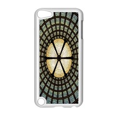 Stained Glass Colorful Glass Apple iPod Touch 5 Case (White)