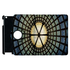 Stained Glass Colorful Glass Apple iPad 2 Flip 360 Case