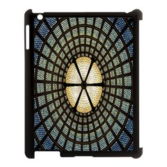 Stained Glass Colorful Glass Apple iPad 3/4 Case (Black)