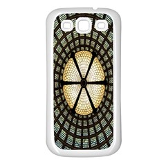 Stained Glass Colorful Glass Samsung Galaxy S3 Back Case (White)