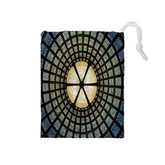 Stained Glass Colorful Glass Drawstring Pouches (Medium)