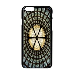 Stained Glass Colorful Glass Apple Iphone 6/6s Black Enamel Case