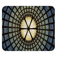 Stained Glass Colorful Glass Double Sided Flano Blanket (Small)