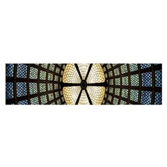 Stained Glass Colorful Glass Satin Scarf (Oblong)