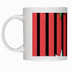 Star Christmas Greeting White Mugs